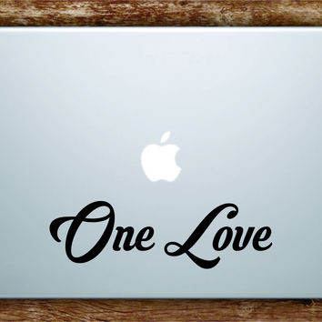 One Love v3 Laptop Decal Sticker Vinyl Art Quote Macbook Apple Decor Quote Bob Marley Music