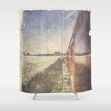 My folded escape Shower Curtain by HappyMelvin