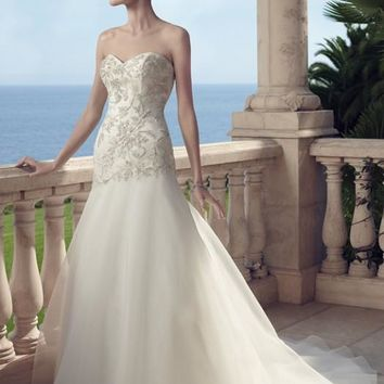 Casablanca Bridal 2149 Strapless Beaded Fit & Flare Wedding Dress