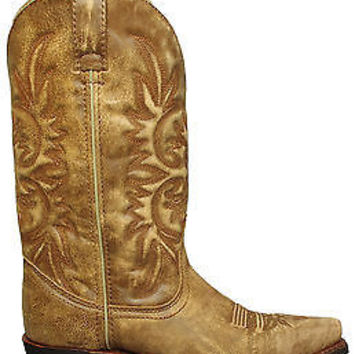 Dingo Womens Wyldwood Boots Tan Crackle Goat Leather DI7522