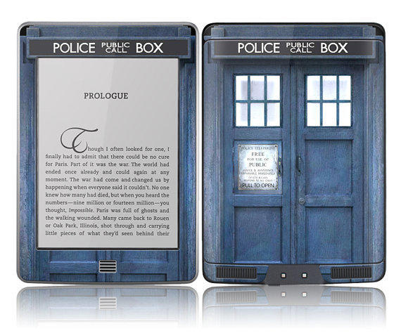 Amazon Kindle Touch Skin Cover Tardis From Stickitskins