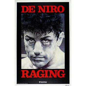 Vintage Raging Bull Poster//Classic Movie Poster//Movie Poster//Poster Reprint//Home Decor//Wall Decor//Vintage Art
