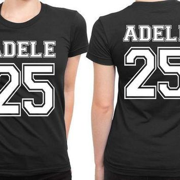 ESBH9S Adele 25 Old School Title33 2 Sided Womens T Shirt