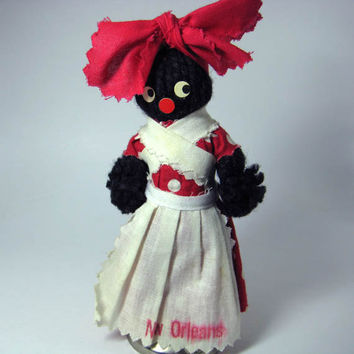 Black Americana DollBell New Orleans Vintage by 925studio on Etsy