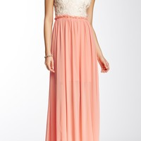 Open Back V-Neck Maxi Dress