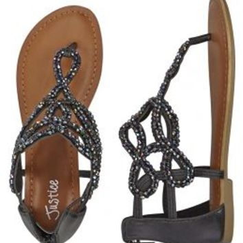 Beaded Swirl Gladiator Sandals | Girls Shoes {parent_category} | Shop Justice