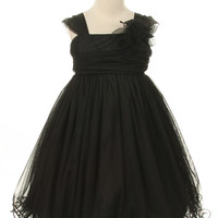 Maggie Liu Tulle Flower Girl Dress in Black