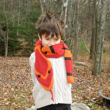 Red and Orange Corn Snake scarf for the Cold-Blooded Type