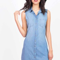 Denim+Delight+Sleeveless+Dress