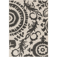 Alger Outdoor Rug ~ Black & Cream