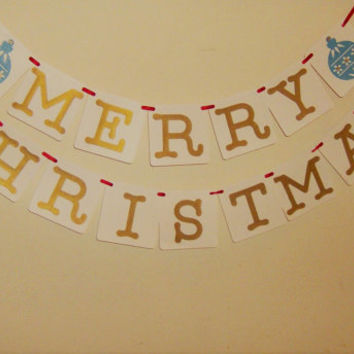 Merry Christmas Banner, Christmas, Holiday Greetings, Seasons Greetings, Xmas, Merry Christmas