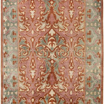 Uncharted Arts and Crafts Area Rug Orange, Green