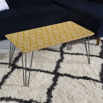 Heather Dutton Diamond In The Rough Gold Coffee Table