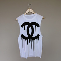 Dripping Chanel - White