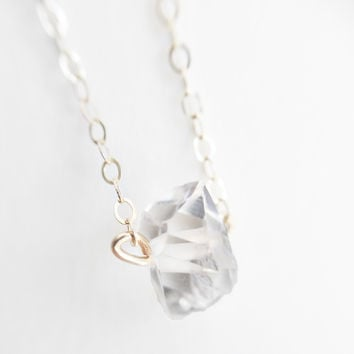 Holiday Exclusive Solitaire - Herkimer Diamond Necklace
