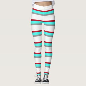 Colors of Winter Striped Leggings