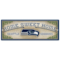 Seattle Seahawks Home Sweet Home 6x17 Wood Sign