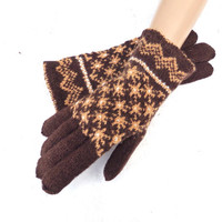 Hand knitted wool gloves with fingers, handknit brown Latvian gloves, women's girl's  winter hand warmers, warm cozy accessories, knit mitts