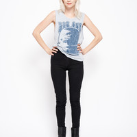 Big Sur Muscle Tee - Sky Blue Stone Wash with Blue Print