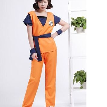 FREEpp Dragon Ball Z GoKu Cosplay Costume full set Fancy party clothing Kids adult Halloween cosplay costume Japanese  clothes
