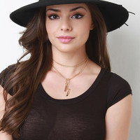 Wool Boater Style Hat
