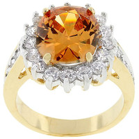 Champagne Cambridge Elegance Ring, size : 09