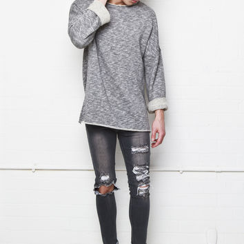 Liquor n Poker - Mens distressed and ripped washed grey skinnies
