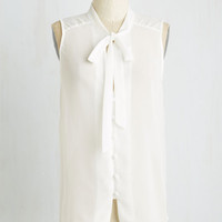 Mid-length Sleeveless Zephyr than Ever Top in White