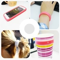 4Pieces/Set Silicone Apple iPhone 6 Plus Case iPhone 6 Case Silicone Mobile Phone cases Creative Hand Ring Wristband Universal DIY Phone Frame Case Cup Insulator Sleeve Silicone Ring Cases