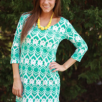 Moroccan Dream Dress, teal
