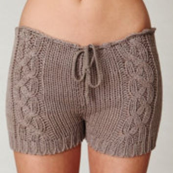 Cable Knit Shorts