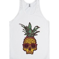 Pineapple Surfer Summer Sunglasses Dude-Unisex White Tank