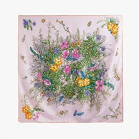 Silky Floral Square Scarf