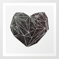 Heart Graphic 4 Art Print by Mareike Böhmer Graphics