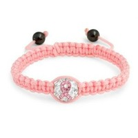 Bling Jewelry Pink Breast Cancer Ribbon Crystal Shamballa Inspired Bracelet 12mm