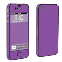 Apple iPhone 4 or 4s Full Body Decal Vinyl Skin - Hot Purple By SkinGuardz:Amazon:Cell Phones & Accessories