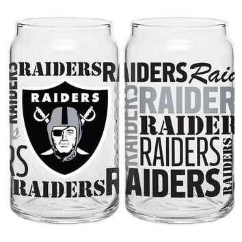 Raiders 16oz. Spirit Glass Can