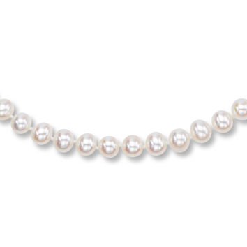 Cultured Pearl Necklace Sterling Silver 18