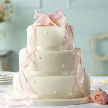 Romantic Pearl Chocolate Wedding Cake (Ivory Icing) | M&S