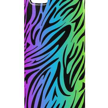 Rainbow Zebra Print iphone 5 & 5S Plastic Case All Over Print by TooLoud