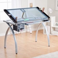 Studio Designs Futura Craft Station with Glass Top - Walmart.com