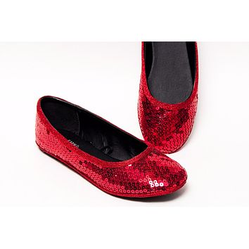 Select Your Color of Big Sequin Ballet Flats