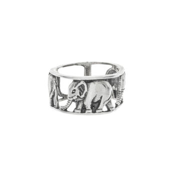 Walking Elephant Knuckle Ring