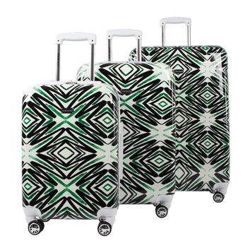 Steve Madden Luggage 3 Piece Hard Case Suitcase Set With Spinner Wheels Tribal '