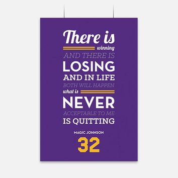 Quitting Quote by Magic Johnson