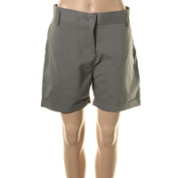 Heather Grey Womens Erika Water Resistant Cuffed Bermuda, Walking Shorts
