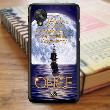 Once Upon Time Captain Hook Emma Swan Nexus 5 Case