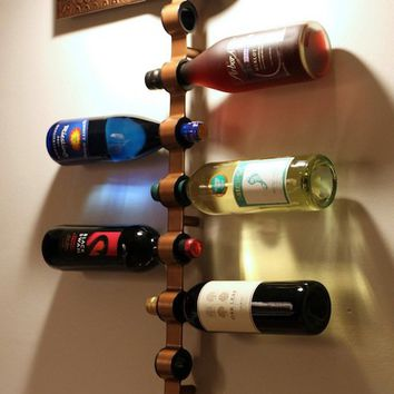 Mounted Wine Bottle Holder