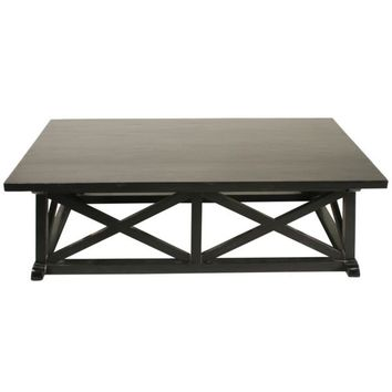 Lakota Coffee Table, Hand Rubbed Black