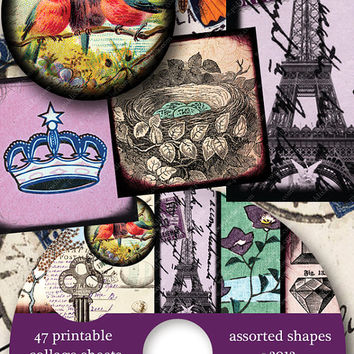 Piddix CD Volume 8 -- 1288 Assorted Sizes on 47 Printable Collage Sheets -- includes two free bonus sheets